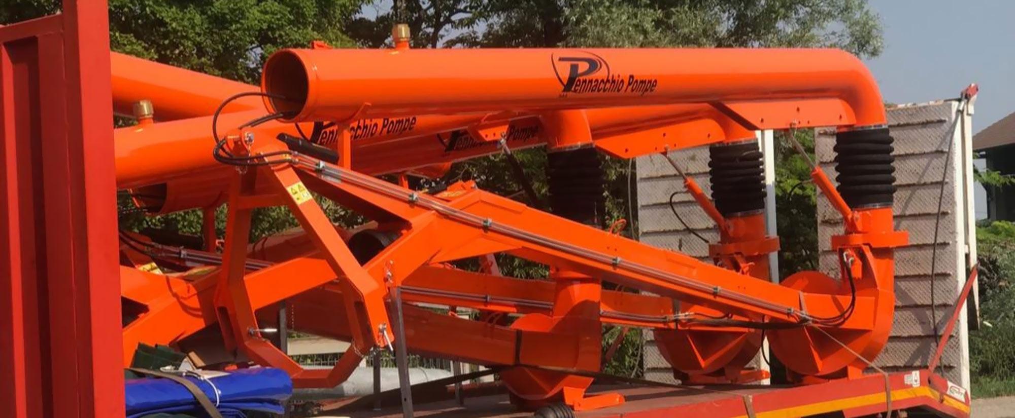 Pompa mobile serie TP a girante con sistema di rotazione e alzata idraulica